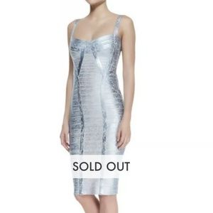 Herve Lager Metallic Bandage Dress size S
